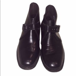 Hanover Neolite Leather Ankle Boots Black Size 9.5